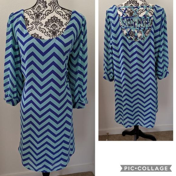 HeartSoul Dresses & Skirts - Hearsoul Plus Chevron Strappy Back Dress XL